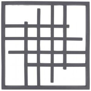 DESSOUS DE PLAT Dessous Plat Silicone Carré Art déco 15cm - Gris d145f3363d5