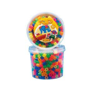 JEU DE PERLE Á REPASSER HAMA Pot de 600 perles Maxi mélange de néon