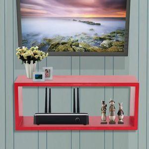 ETAGÈRE MURALE LESHP® Etagère Murale Meuble Etagère PR TV BOX -RO