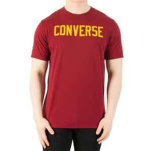 T-SHIRT Converse Homme T-shirt graphique, Rouge ...