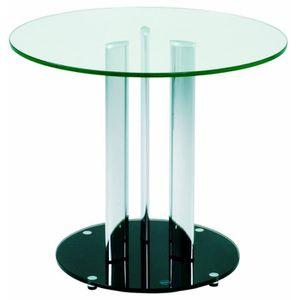 TABLE D'APPOINT Table d'appoint en tube d'acierColoris Noir, Ha…