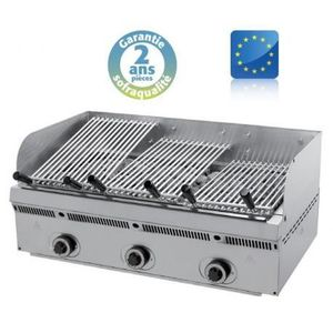 BARBECUE DE TABLE Wood steack grill gaz inclinable - L 900 mm