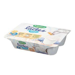 DESSERT LACTÉ BLEDINA Mini lactés Nature sucrés - 6x55 g - De 6