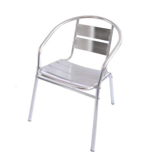 Chaise En Aluminium De Bistrot Bar Empilable Achat Vente