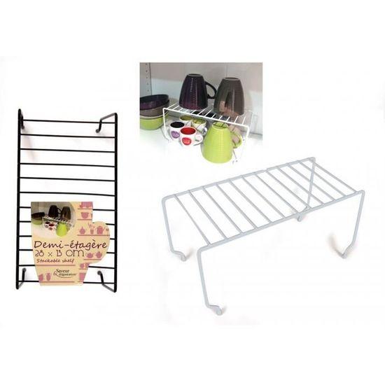 Demi étagère gain de place Blanc   Achat / Vente panier de placard