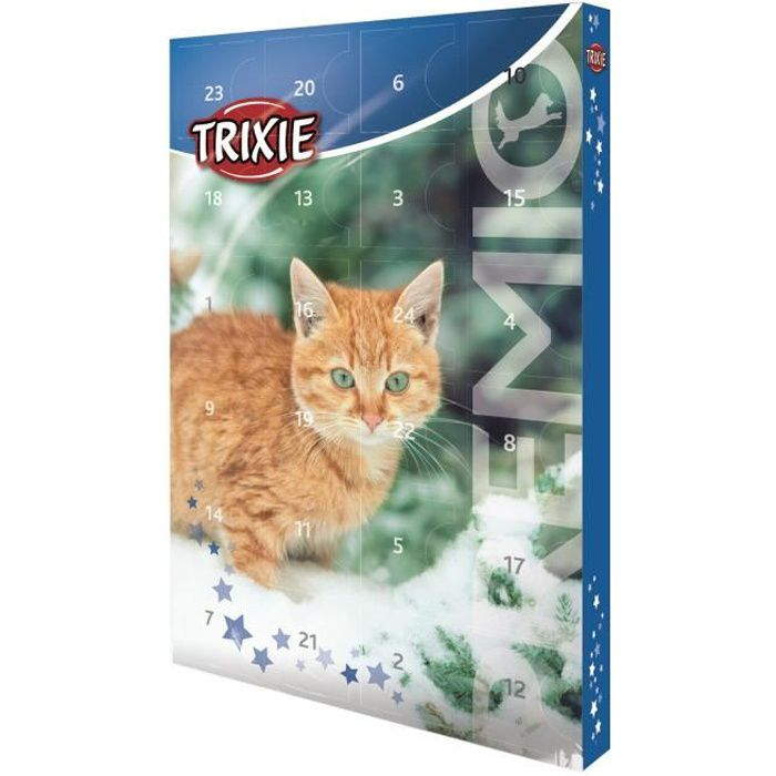 TRIXIE Calendrier de l'Avent Premio - 24,5 × 37 × 3,5 cm - Pour chat