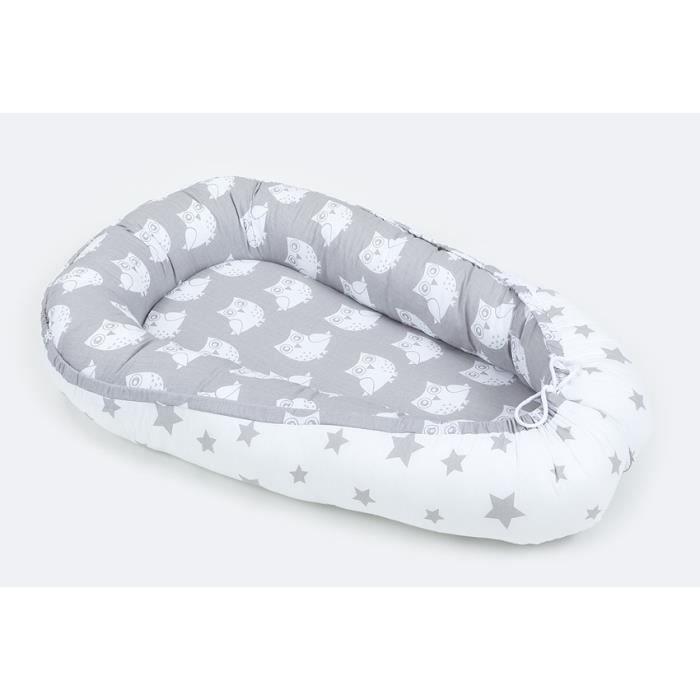 cocon nid rducteur de lit gris 2 en 1 pour bb - Reducteur De Lit Bebe