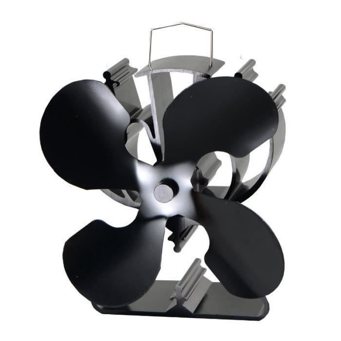 la chaleur ventilateur pour po le en bois b ches br leur cologique noir achat vente. Black Bedroom Furniture Sets. Home Design Ideas