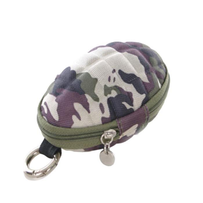 Hand Grenade Shape Men & Women Coin Portefeuille Porte-clés Sac à glissière - Camouflage