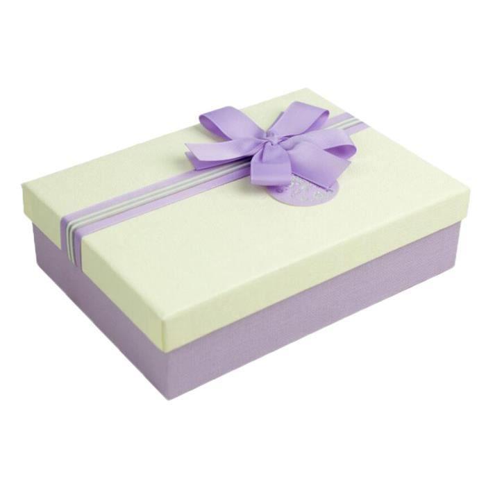 boîte cadeau en carton pourpre avec couvercle pour mariage d