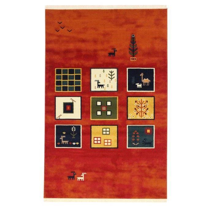 Bien-aimé Tapis persan moderne tapis Gabbeh contemporaine - Achat / Vente  HX83