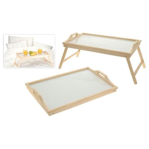 plateau en bois sur pieds pour petit dejeuner au lit achat vente plat de service cdiscount. Black Bedroom Furniture Sets. Home Design Ideas