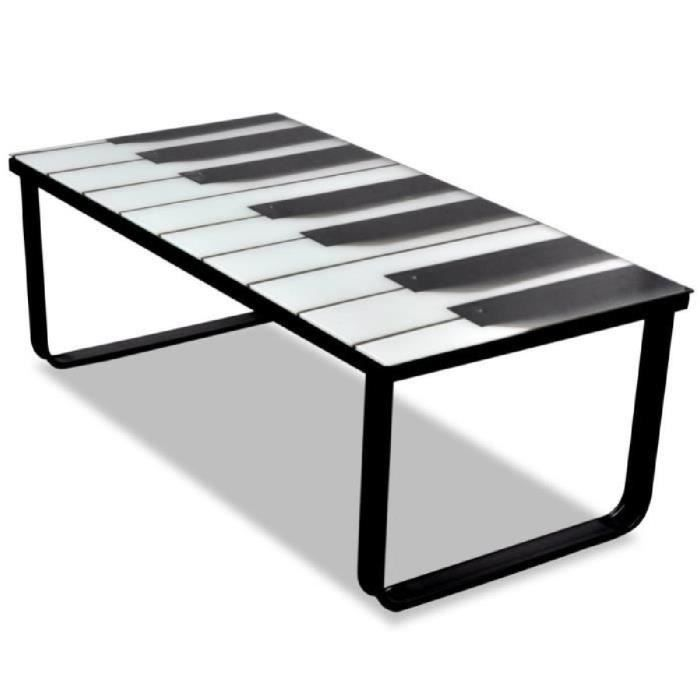 TABLE BASSE Table Basse en Verre Design piano design unique mo