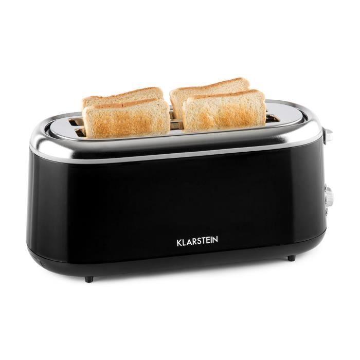 Klarstein Elox Grille-pain rétro à fentes longues 1300 W 7 degrés ...