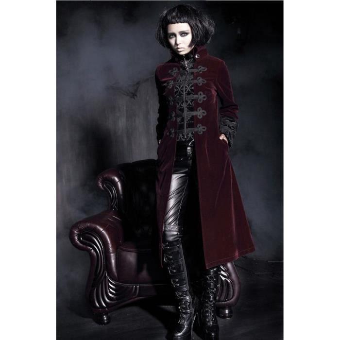 Manteau gothique cuir femme