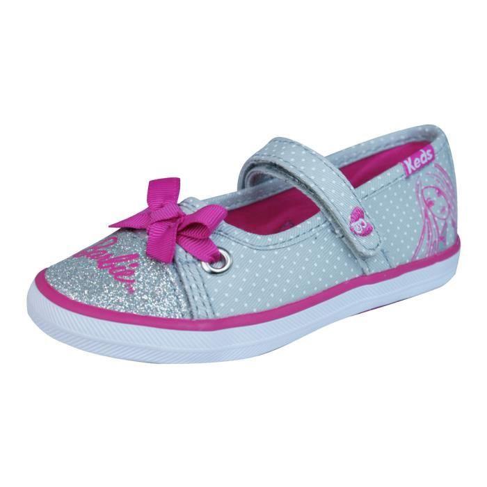 Keds KE Barbie AC Filles baskets Grey 9K v8tNh