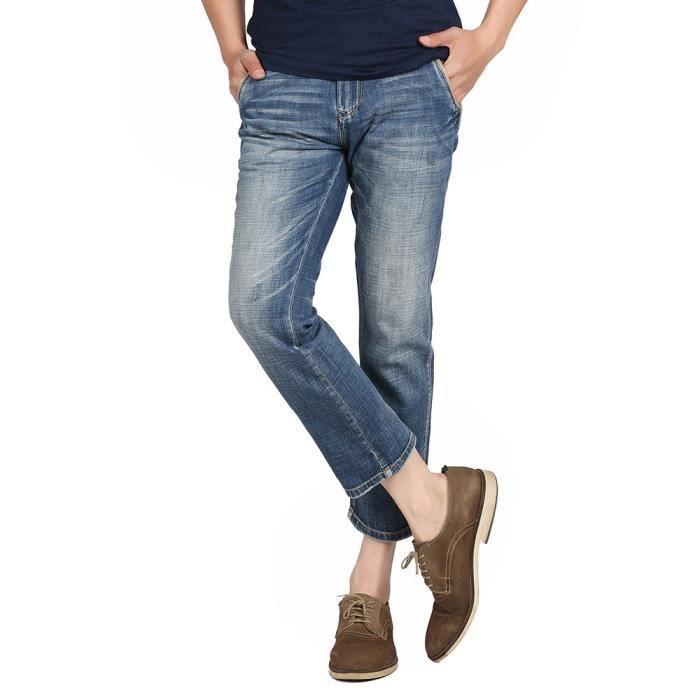 pantalon homme jeans droit jeans dechires homme pantalon cigare en jean homme pantalon corsaire jea. Black Bedroom Furniture Sets. Home Design Ideas