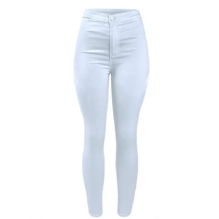 Blanc Taille Jeans Pantalons Haute Pour Femmes Shopee nfAPq7wc