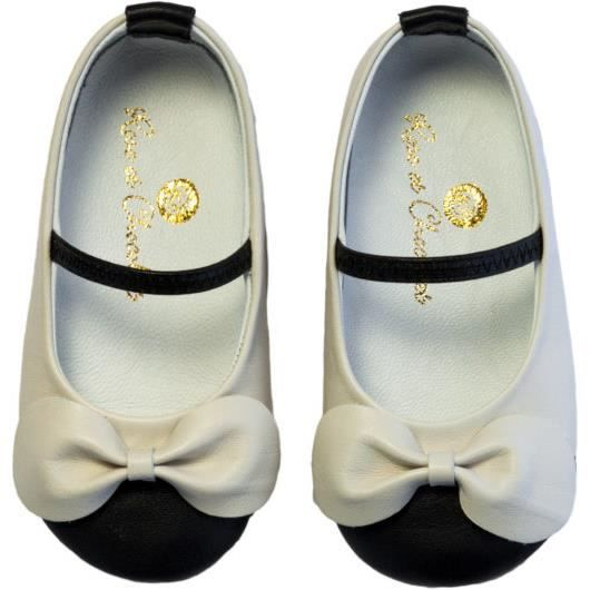 Chaussures en cuir RPC 005 19 Ballerina Black and White