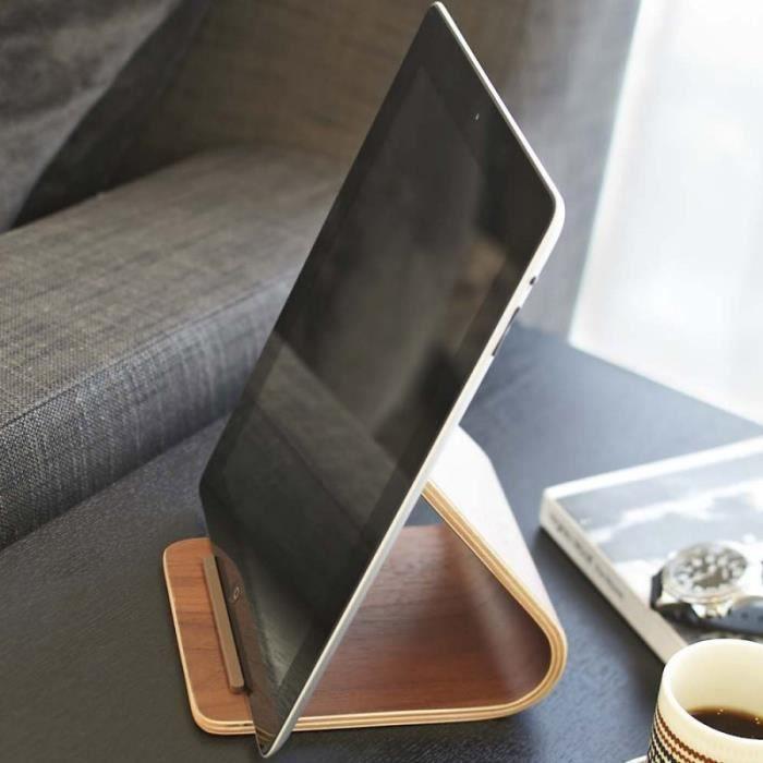 Support design pour tablettes tactiles bois fo prix pas cher cdiscount - Tablette tactile cuisine ...