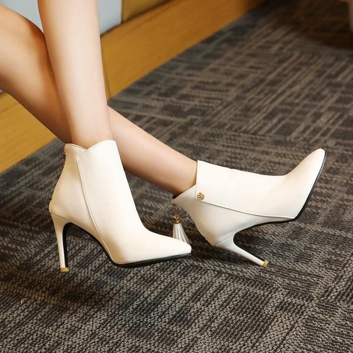 Talons hauts Sandale Femmes Respirant mules femme Plage pantoufle haut talon Chaussures de filet perméable à l'air Plus Taille QPIjK