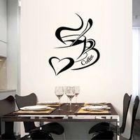 STICKERS Noir café cuisine stickers muraux décoration de la