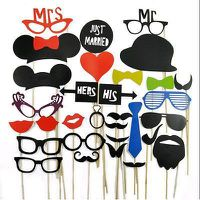 CADRE PHOTO 31Pcs Photomaton accessoires lèvres moustache sur