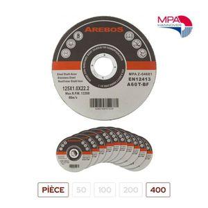 DISQUE ABRASIF 400 Disques à Tronçonner Diamètre 125mm