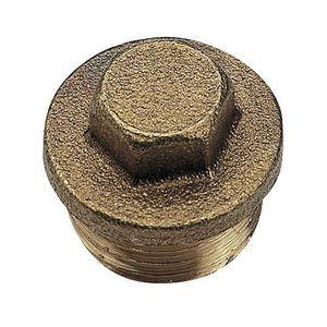 MANCHON - RACCORD - COUDE Bouchon laiton brut mâle - 292