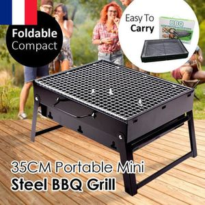 BARBECUE Noir Barbecue Charbon Pliante Valise Grill BBQ Cam