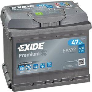 BATTERIE VÉHICULE Batterie voiture Exide EA472 FA472 12v 47ah 450A