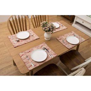 Set de table tissu rouge Achat Vente pas cher