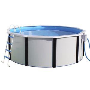 Piscine hors sol acier 3m 50 achat vente pas cher for Liner piscine acier ronde