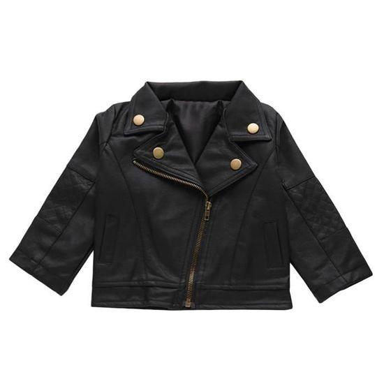acheter en ligne 68961 c33b2 Boy 100cm Enfants PU veste en cuir Punk Rock vêtements enfants Outwear  cadeau de Noël