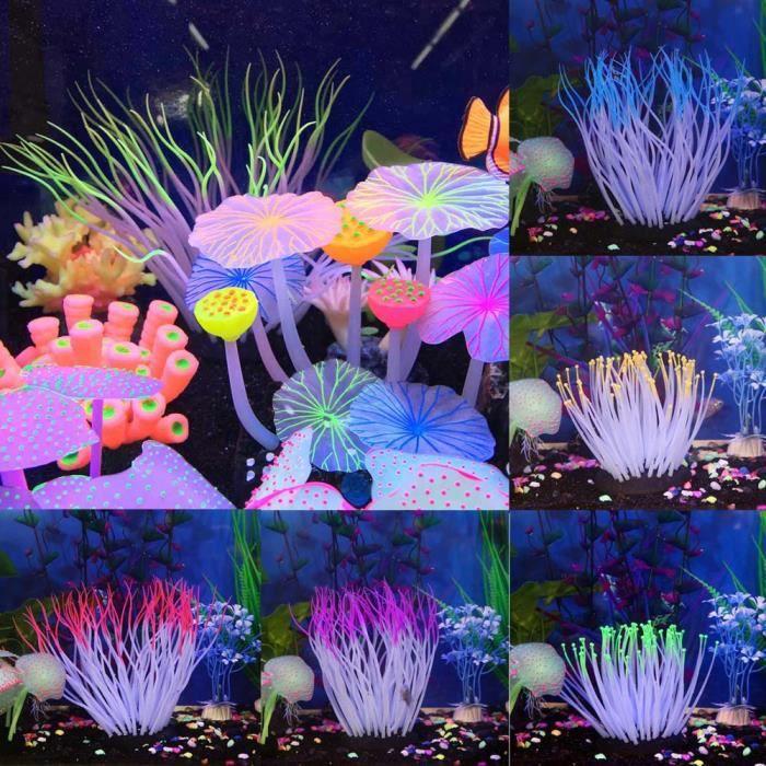 Cd-3327 Aquarium Poissons Plante Créature Décoration Decor Plantes Eau