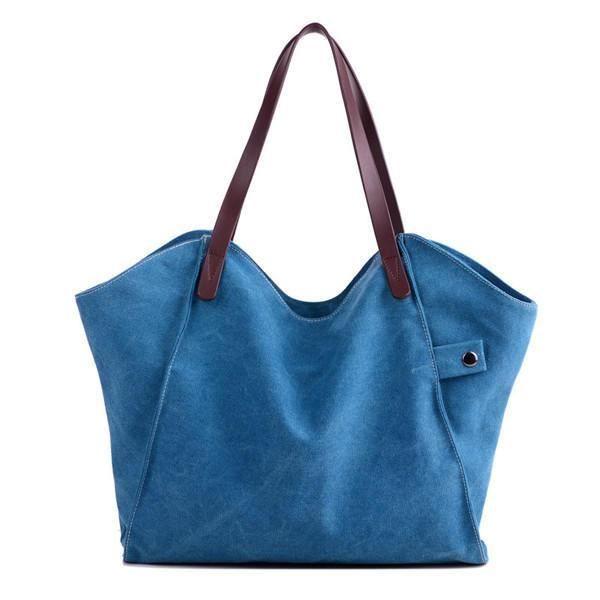 SBBKO2989Femmes durable sac à main épais sac à bandoulière occasionnels grande capacité sac à bandoulière Bleu