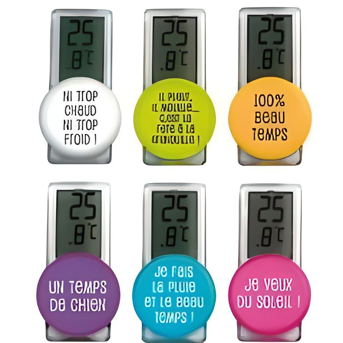 Thermometre exterieur ventouse achat vente thermometre for Thermometre digital exterieur