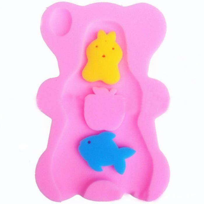 coussin de bain b b ponges de bain prot ger t jaune rose achat vente eponge de bain. Black Bedroom Furniture Sets. Home Design Ideas