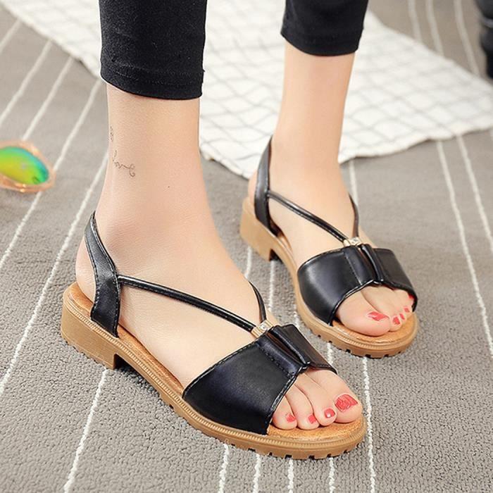Sandales à bas talon Peep Toe