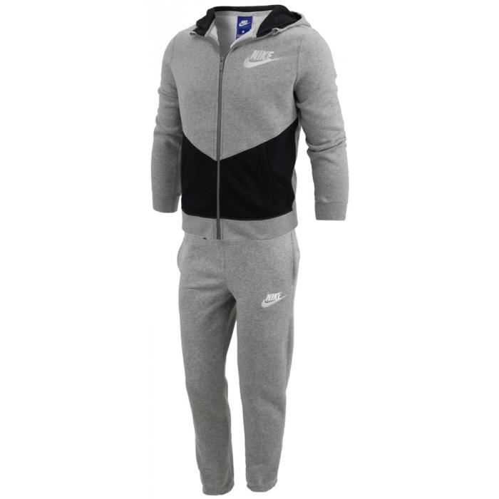 b958c9ce25242 Nike - Nike B Nsw Trk Suit Bf Core Petit Garçon Jogging Gris Gris ...