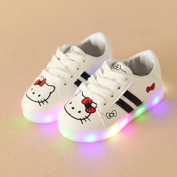 chaussures LED pour enfants les enfants ont conduit lumières baskets pour filles Bébé nIlT1