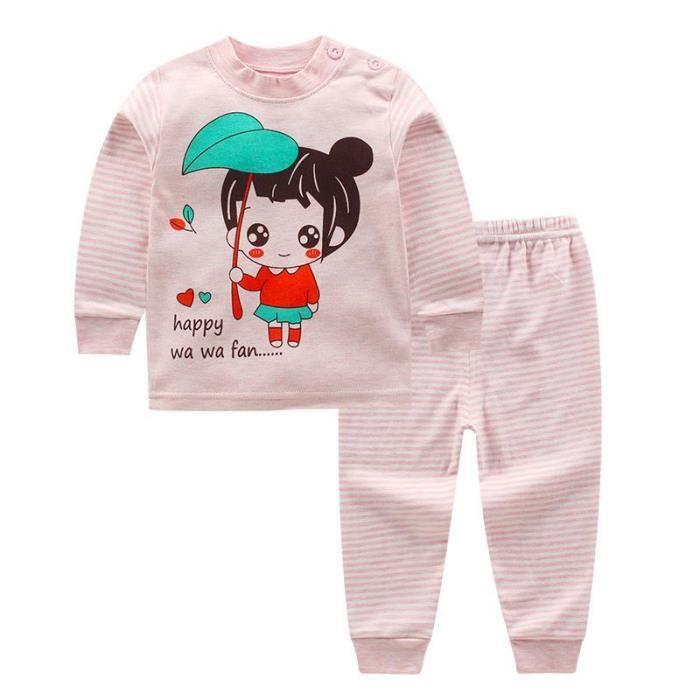47ba44b06c 2pcs-set Ensembles de sous-vêtements Vêtements de filles cotton pyjamas