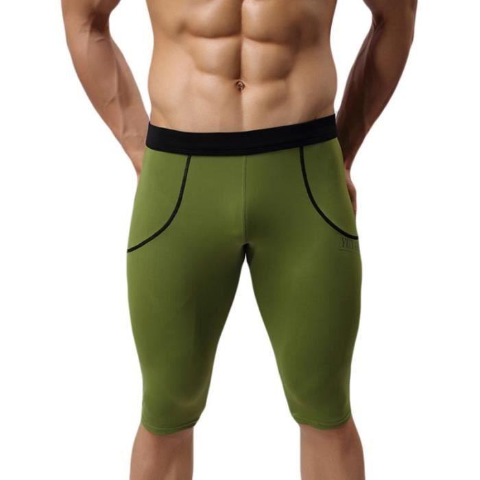 Taille Maillot Vert Style Mi Longue Homme Bain Élastiquée De Piscine EDH2WY9I