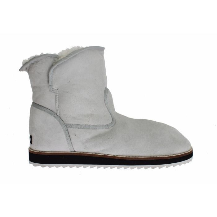 fd6ee73bc2dcbf Dolce   Gabbana - Blue Leather Merino Wool Flat Warm Boots Shoes ...