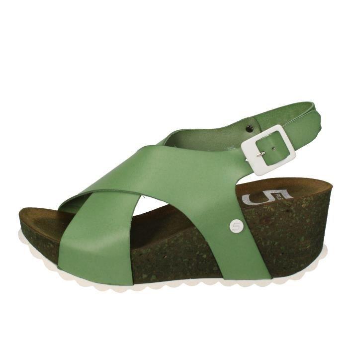 Cpqyz Chaussures Vert Pro 5 Ac691 Femme Cuir Sandale Ject 80PknOw