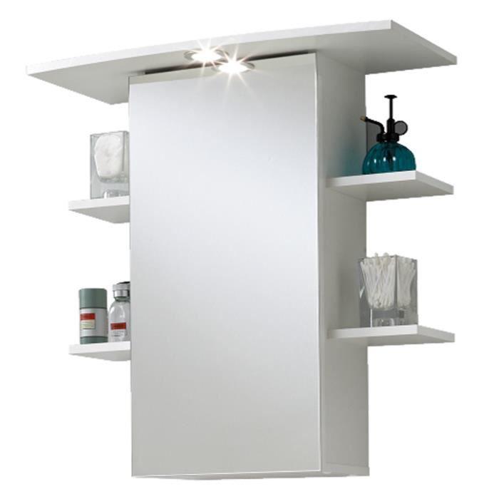 Ordinaire Armoire Avec Miroir Pour Salle De Bains Coloris Blanc, L65 X H72 X P29 Cm