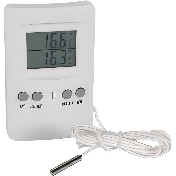 STATION MÉTÉO Thermomètre Intérieur Extérieur Avec Sonde
