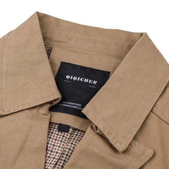 Manteau Poche Homme Bouton Veste Outwear Militaire Vêtements WnI7gg