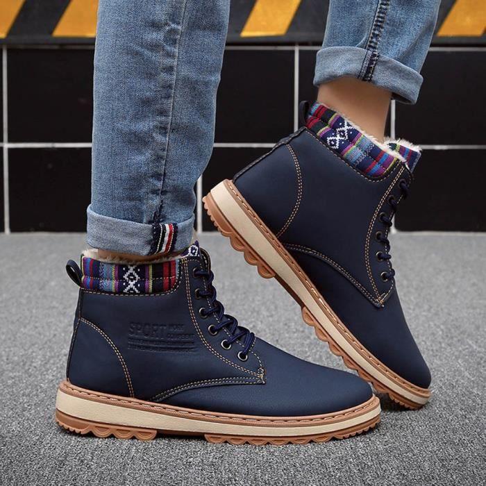 Bleu De Chaussures Bottes Travail Martin Hautes Hommes Casual Bottines Sneakers q4gznwx6Ov
