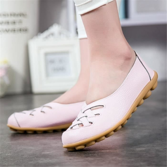 Ultra Chaussures Chaussures plate XZ053Rose36 ete BYLG Femmes Loafer Leger HHtRqa
